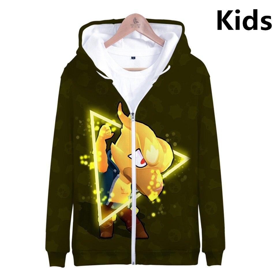 3 To 14 Years Kids Hoodies Shooting Game 3d Printed Hoodie Sweatshirt Boys Girls Harajuku Long Sleeve Jacket Coat Teen Clothes