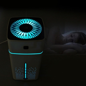 Image 5 - חם! 2 Pcs 1000Ml אוויר אדים קולי Usb מפזר ארומה חיוני שמן Led לילה אור ערפל מטהר אדים, לבן & B
