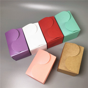 200Pcs 9x6x6cm Handmade Gifts Paper Box, DIY Wedding Favor Packaging Gift Boxes, 6 Colors Paper Candy Box