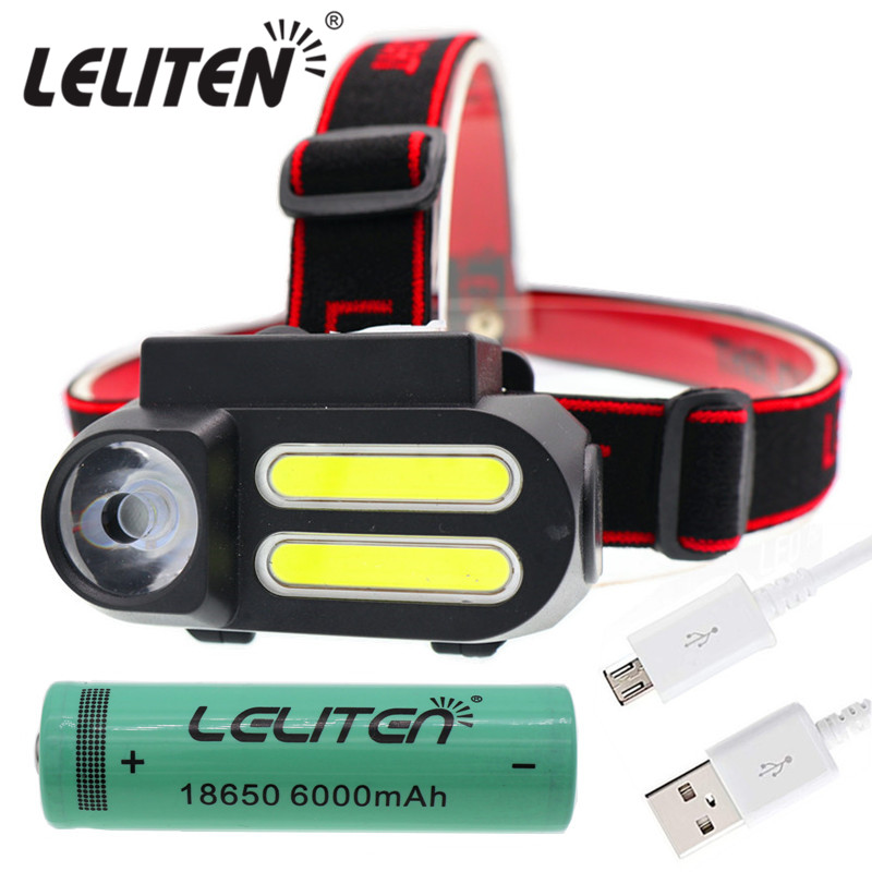 Portable Mini  XPE+2* COB LED Headlamp Work Light Waterproof Headlight Use 18650 Battery for Night Lighting Flashlight head lamp|Headlamps|   - AliExpress