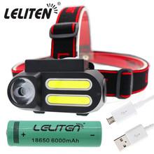 Przenośny Mini XPE + 2 * COB LED reflektor roboczy wodoodporny reflektor użyj 18650 baterii do oświetlenia nocnego latarka czołówka tanie tanio LELITEN Żarówki led Wysoka średnim niskie 2*COB+XPE Reflektory 180 ° Camping Climbing Hunting Night Fishing LITHIUM ION