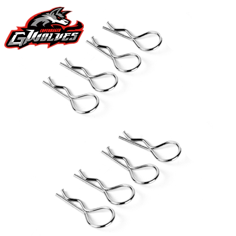 8pcs 1/14 1/12 1/10 1/8 1/5 RC Body Pin R Shell Clip Stainless Steel Shell Key For RC Himoto HSP Drift Truck Buggy Car Shell