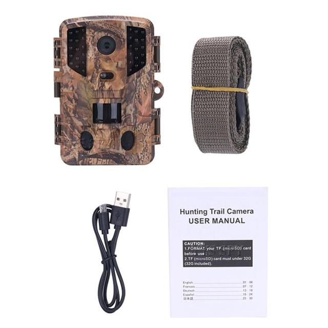 PR900 Hunting Trail Camera 20MP 1080P PIR IR Wildlife Scouting Cam Night Vision Trail Camera IP66 Waterproof 120 Degree Angle