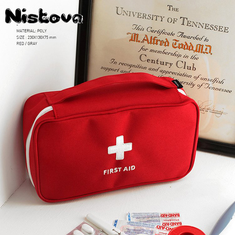 Portable Emergency Kit Travel Medical Small Outdoor First Aid Household Medicine Storgage Bag Mini Organizing Package Coin Purse