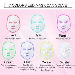 Image 3 - Missheart 美容光子 led フェイシャルマスク治療 7 色ライトスキンケア若返りしわにきび除去顔美容