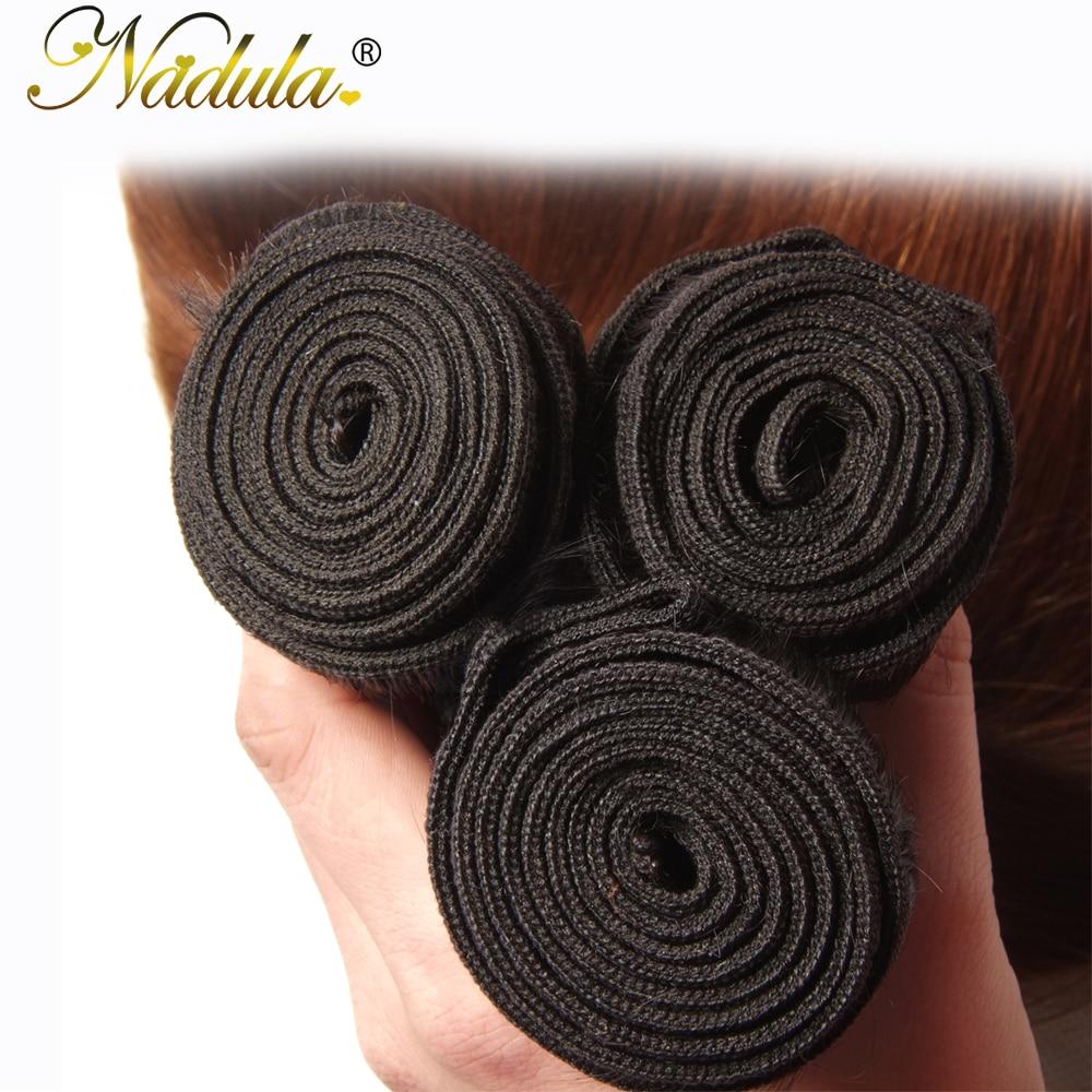 Nadula Hair 3 Bundles Straight Hair  Ombre Brown   1B/4/27 Ombre Hair Bundles 5