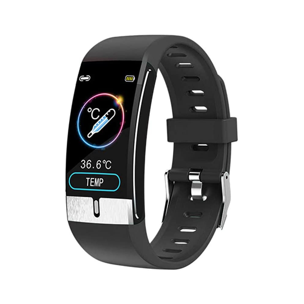 Newest E66 Smart Bracelet Body temperature Monitor Heart Rate Blood Pressure Health IP68 Waterproof Smart Watch  Bluetooth Watch