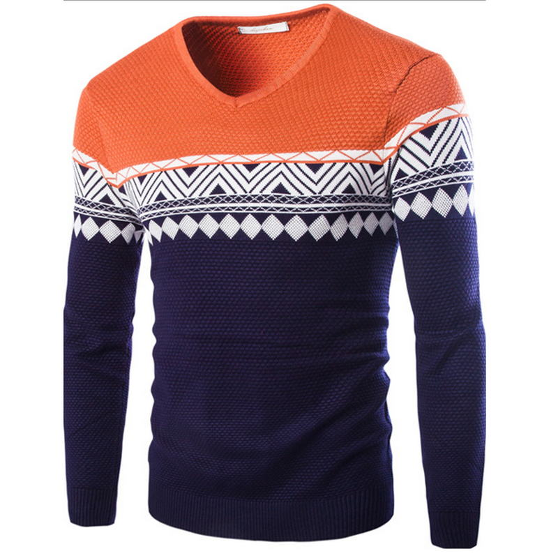 Sweater Jersey Knitted Men's Cotton Masculino Thin Brand Apparel Suit Diamond Daily Social