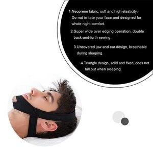 Image 3 - Новый Неопреновый ремень с защитой от храпа и храпа для подбородка, пояс с защитой от апноэ, поддержка сна, пояс для апноэ, инструменты для ухода за сном
