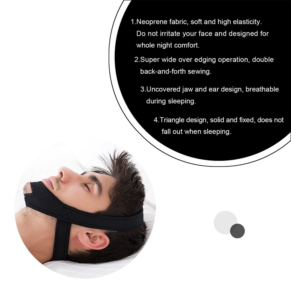 Image 3 - New Neoprene Anti Snore Stop Snoring Chin Strap Belt Anti Apnea Jaw Solution Sleep Support Apnea Belt Sleeping Care Tools-in Sleep & Snoring from Beauty & Health