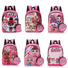 L.O.L.surprise ! lol dolls surprise toys action figure kids bag school cute knapsack backpack lol toys birthday gift