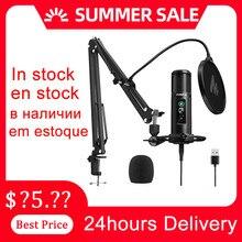 100% MAONO PM422 Mikrofon Null Latenz Überwachung Professionelle Nieren Kondensator Mic Mit Touch Stumm Taste Für Live-Stream