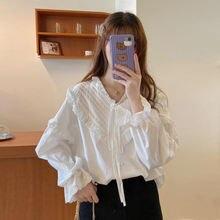 Forean Мода 2020 осенние женские блузки белого размера плюс