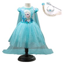 Girl Dresses Summer Baby Kid Clothes Princess Anna Elsa Dress For Girl