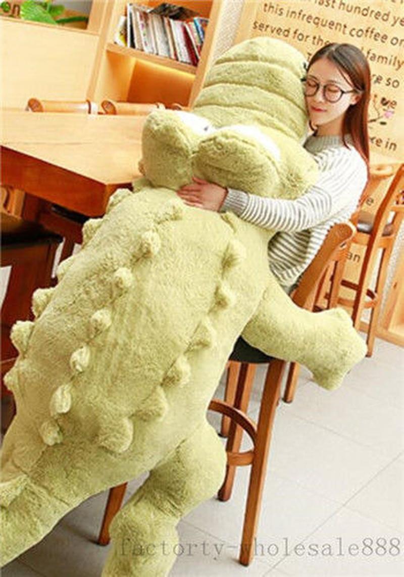 170cm Giant Big Plush Crocodile Stuffed Animal Soft Toy Huge Cushion Pillow Gift Cute Plush