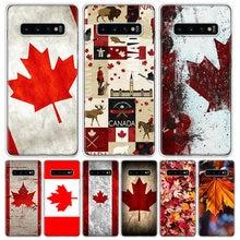Coque de téléphone portable, Style rétro, feuille d'érable, Canada, pour Samsung Galaxy S10 S20 Ultra Note 10 9 8 S9 S8 J4 J6 J8 Plus Lite + Pro S7