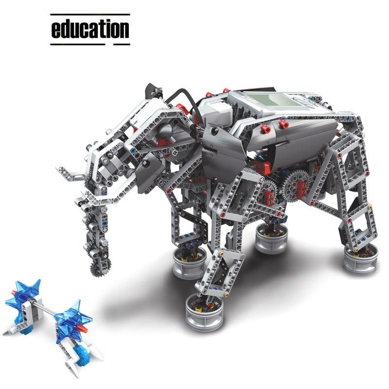 Image 2 - EV3 COMPATIBLE LOGOING 31313 45544 SCIENCE AND EDUCATION BUILDING BLOCK ROBOT CREATIVE PROGRAMMING INTELLIGENT APP PROGRAM TOYSBlocks   -