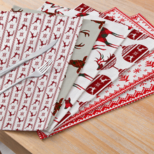 Placemat Table-Napkins Coaster-Dish Christmas-Decor Coffee Dinner-Table Kitchen Home