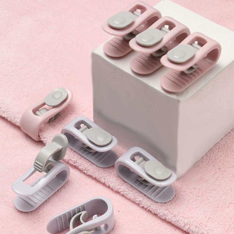 6pcs/set 3 Colors Quilt Holder Clips for bed sheet Blankets Fastener Clip ABS Duvet Sheet Fixer Household Anti run Kick Buckle