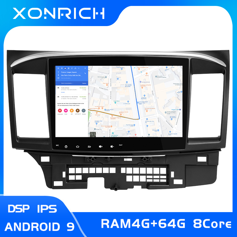Android 9.0 Car DVD for MITSUBISHI LANCER 10.1 inch 2 DIN 3G/4G GPS radio video player 2007-2018 9 x Mutlimedia StereoIPS DSP 4G image