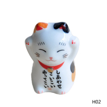 Lucky Cat 1Pcs Ceramic Chopsticks Care Holder Japanese Home Hotel Ceramics Cute