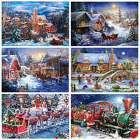 AZQSD 5D Christmas Diamond Painting Picture Of Rhinestones DIY Winter Full Square Drill Diamond Embroidery Home Decortion Gift