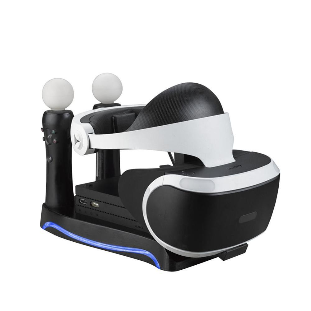 For Sony Playstation PS4 VR Charging Dock 2nd 4-in-1 Multi-Functional Base Holder For PS3 MOVE PS4 Handle Console Charger