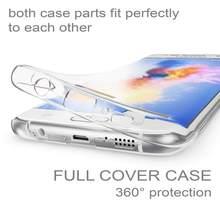 360 двойной силиконовый чехол для телефона Samsung J2 J3 J5 J7 A3 A5 A7 2015 2016 2017 J2 pro J4 J6 J8 Plus 2018 G360 G530, Защитные Чехлы