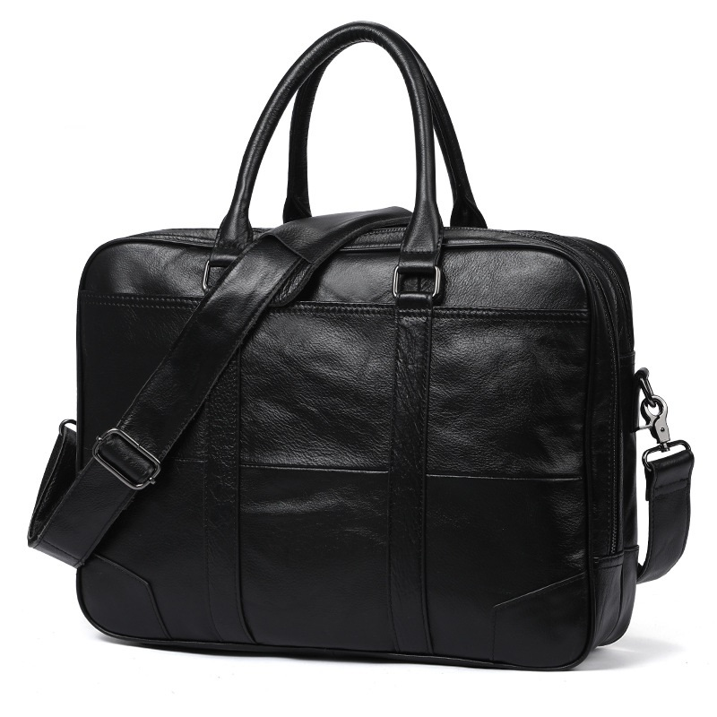 Hot Selling Men's Briefcase Casual Retro Bag Men's Business Leather Bag MEN'S Bag 15.7-Inch Laptop Handbag