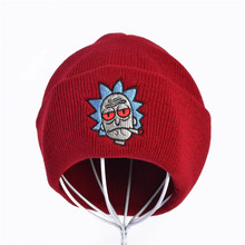 Rick Beanies and Morty Hats Brand Embroidery Warm Winter Unisex Knitted Hat Skullies US Animation Ski Gorros Beanie cap