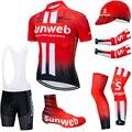 2019 TEAM SUNWEB fietsen kleding 20D bike shorts pak Ropa Ciclismo zomer snel droog fietsen jersey Maillot mouwen warmers