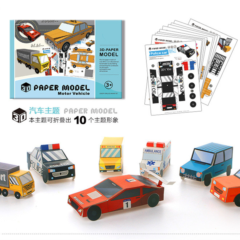 New 30PCS Children's Manual Book 3D Stereoscopic Origami Paper-cut Books Boys And Girls Creative DIY Handmade Puzzle Toys Game