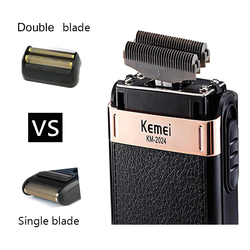 Kemei Electric Shaver for Men Twin Blade Reciprocating Cordless Razor Hair Beard USB Rechargeable Shaving MachineBarber Trimmer5 2