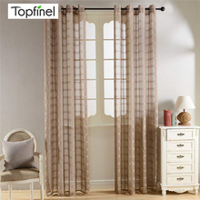 Sheer Curtains Drapes Window-Treatments Tulle Bedroom Gray Living-Room Modern R-Panel