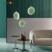 Nordic minimalist bedroom bedside pendant lamp light luxury living room study exhibition room pendant lights
