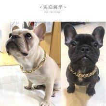 necklaces for dogs adjustable Personalized metal stainless steel chain dog collar pet
