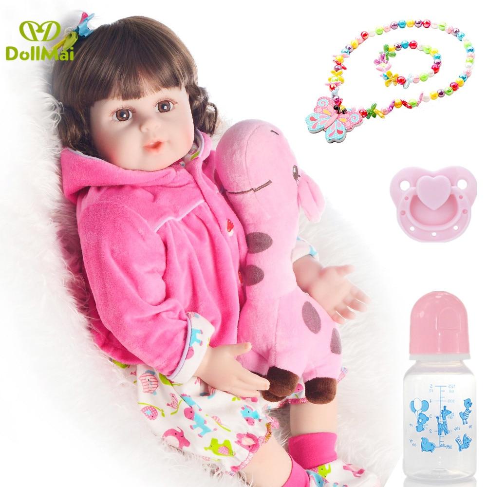 """20 """"fille poupée reborn silicone reborn bambin bébés jouets pour enfant bebe cadeau reborn vinyle nouveau-né princesse bébé poupée"""