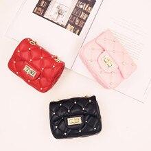 Детская мини-сумка для маленьких девочек, модная милая сумка для девочек из искусственной кожи, сумки с заклепками, сумка-мессенджер принцессы, Корейская сумка на цепочке для девочек, быстрая