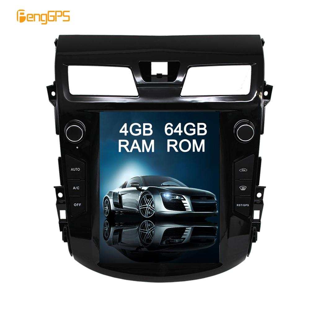 GPS Navigation for Nissan Teana Altima 2013-2017 <font><b>Car</b></font> Stereo System <font><b>Audio</b></font> DVD Player Vertical Screen 1920*1080 <font><b>Android</b></font> 9.0 image