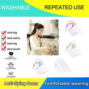 4 Colors Household Cooking Transparent Reusable Washable With Box Safe Effective Anti-Oil Splash Face Shield Kitchen Accessories(China)