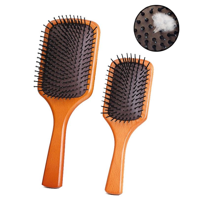 2020 Women Hair Scalp Massager Air Cushion Airbag Wood Comb Hair Brush Scalp Massage Comb Hair Care Hairdressing Styling Tools