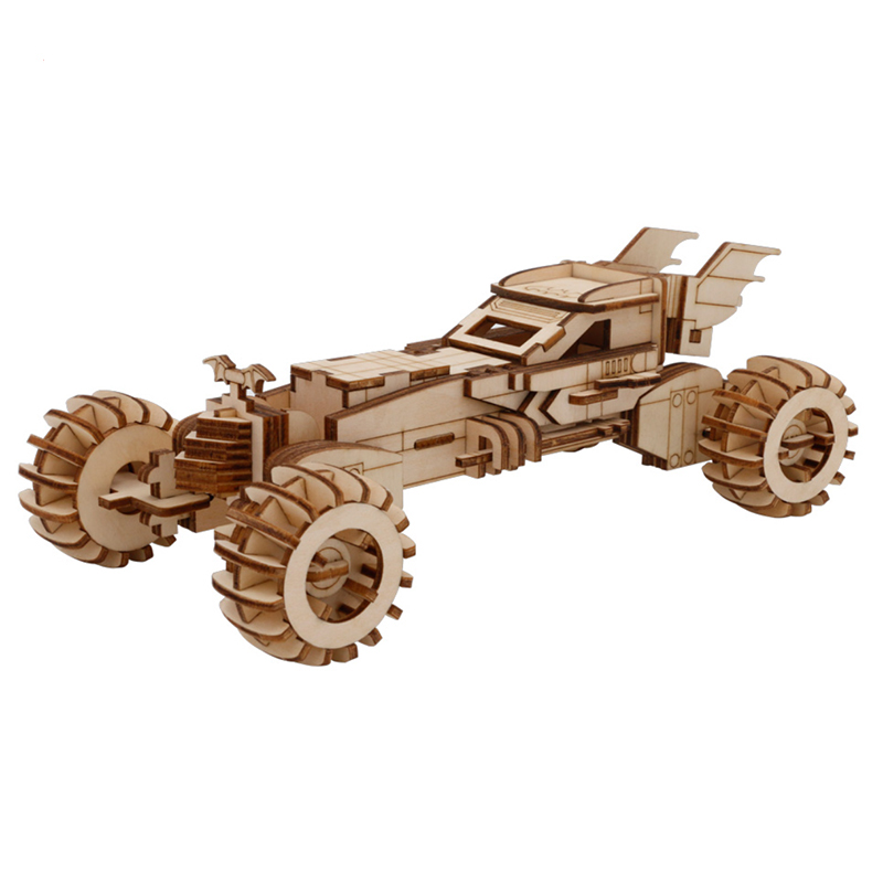 3D Wooden Car Model  Carrier Diy Interactive Early Education Parent-child Assembly  Brain Development 3d Puzzle Kid Puzzle Toys