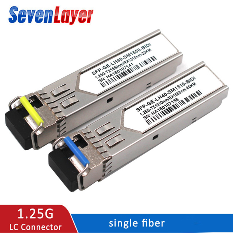 SFP Module 1.25G LC BiDi 1310nm/1550nm WDM Switch SFP Transceiver Module With Switch With DDM  Function Compatible With Mikrotik