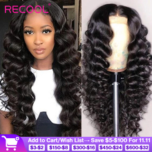 Brazilian Loose Deep Wave 13x4 Lace Front Human Hair Wigs For Black Women Glueless 360 Lace Frontal Wig Remy 4x4 Closure Wig
