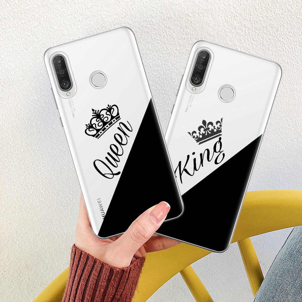 Untuk Huawei Kehormatan Mate 10 20 P10 P20 P30 Lite Pro 10i 8X 8C Raja Ratu Pecinta Beberapa Silicone case Cover Capa Fundas Coque