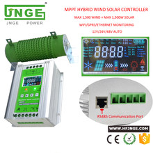 Hot Sale MPPT Hybrid Wind Solar Charge Controller 500W 1000W 2000W 12V 24V 48V With WIFI GPRS