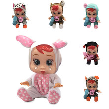 Water Electronic Music Weeping Cry a Baby With Magic Tears Silicone Alive Dolls Toys For Girls Kids Gift Birthday Lifelike(China)