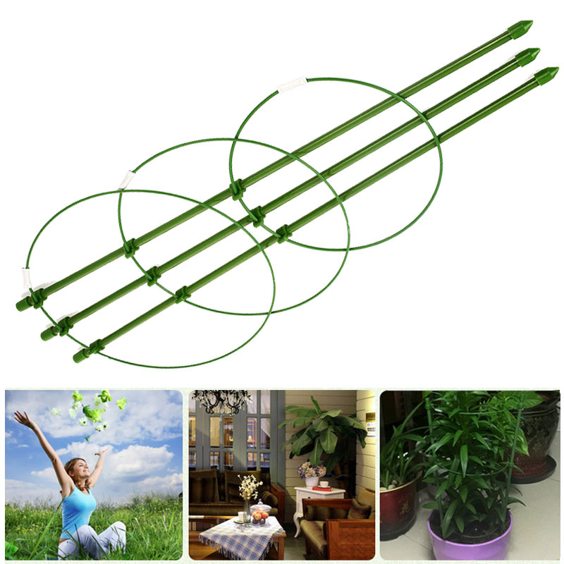 Plants Support Pot Vine Climbing Rack Vegetables Peppers Diy Plant Support Frame Creative 45cm Flower Decorative Eggplants