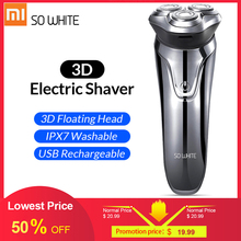 SOOCAS SO WHITE ES03 электробритва, бритва 3D для бритья, бритва xiaomi, Мужская бритва, триммер для бороды, носа, волос, электрическая бритва