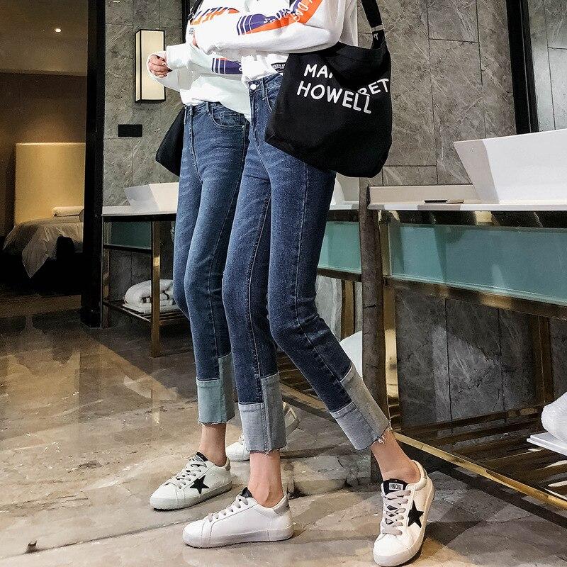 2019 été cheville longueur jeans dan femmes push up denim pantalon 9092807